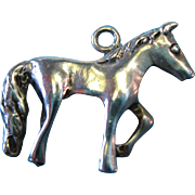 "Vintage Sterling Silver ""My Little Pony"" Horse Charm"