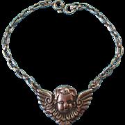 Vintage Sterling Silver Cherub Angel Charm Bracelet