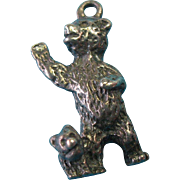 Vintage Sterling Silver Mother Bear with Cub Charm