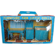 Vintage Miniature Plastic Kitchen Set Original Box