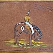 Handpainted Leather Photo Album