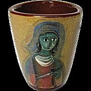 Pillin Pottery Vase Mid Century