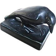 Rookwood Pottery Black Rook Paperweight