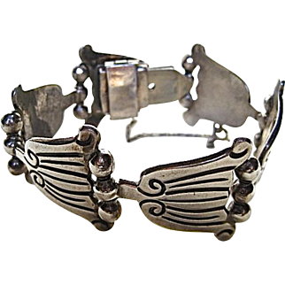 Tulip Solid Sterling and Ball Bracelet