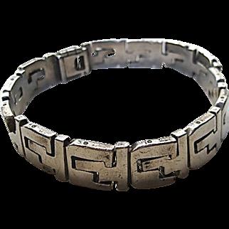 .950 Silver Men's Puzzle Bracelet