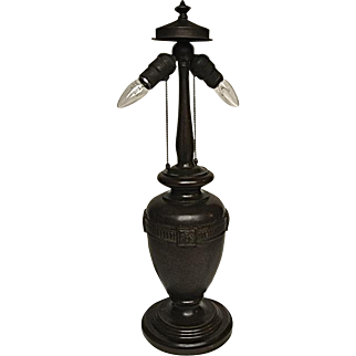 Handel Bronze Lamp Base-Signed