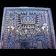 .900 Silver Inca Inti Cigarette Case