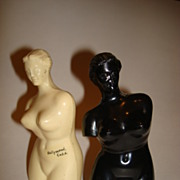 Molded Plastic Salt and Pepper