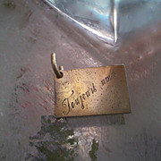 Vintage French Toujours Amis Rolled gold Charm