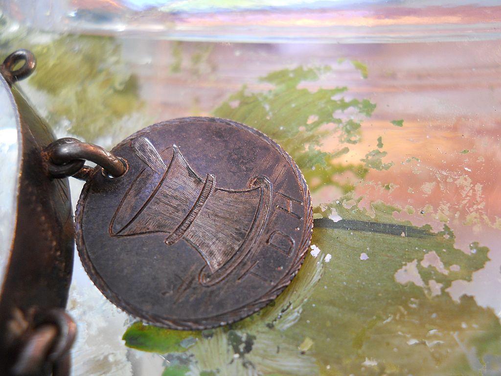 Silver Apothecary Love Token 1875 Charm TDH