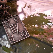 Antique Sterling Silver Virgo Astrological Sign Charm