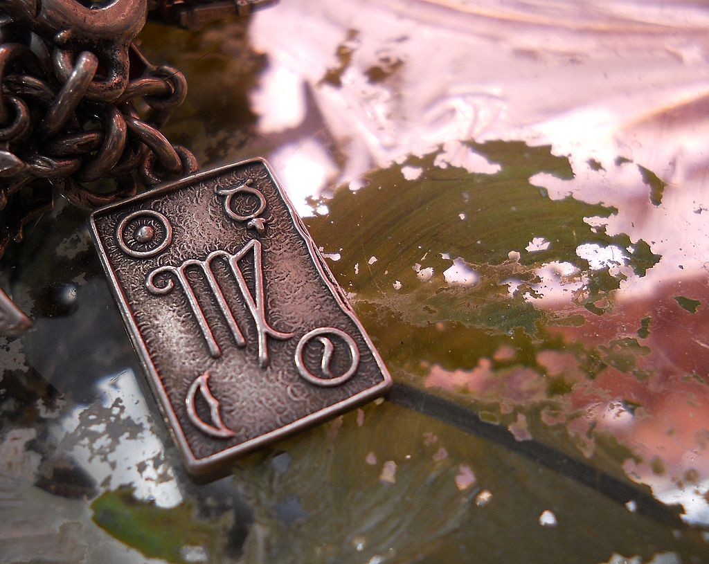 Antique Sterling Silver Virgo Astrological Sign Charm