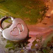 Vintage Sterling Silver Heart Padlock Clasp