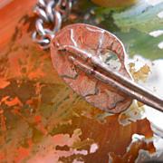 Antique Repousse Silver Art Palette Charm