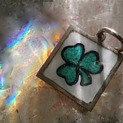 Vintage Silver Lucky Three Heart Clover Charm