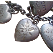 Vintage Sterling Silver Ginny Puffy Heart Charm