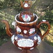 English Bargeware Teapot  1905
