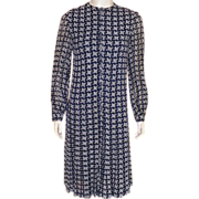 Vintage 1960's Oscar De La Renta Navy and White Dress
