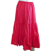 Vintage Three Tiered Red Half Slip Petticoat 8 Gore By Deena