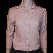 Vintage 1950's Beige Dalton Virgin Cashmere Sweater