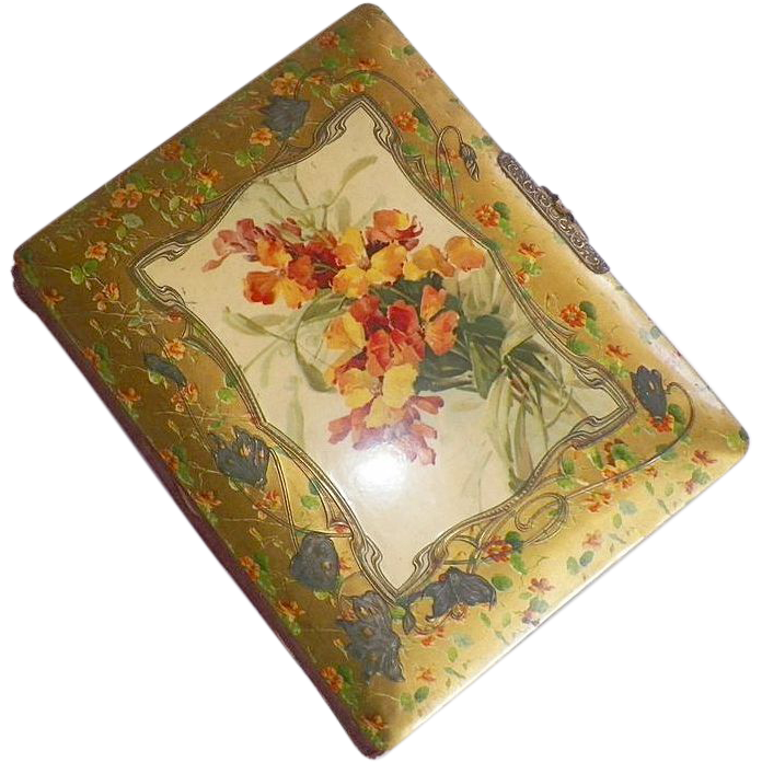 Vintage Art Nouveau Celluloid Photo Album