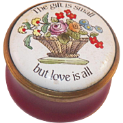 Halcyon Days Enamels Small Box In Original Presentation Case - Red Tag Sale Item