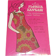 Vintage NOS 1960's Flower Fantasy Paper Dress In Original Packaging