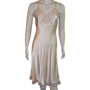 1940's Fischer Heavenly Silk Beige Full Slip