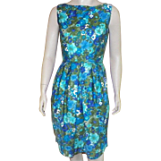 Vintage 1960's Tori Richard Floral Dress Made In Hawaii