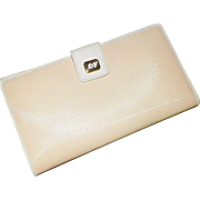 Genuine Gucci Off White Canvas and Leather Wallet Like New