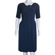 Vintage 1960's Navy Blue Cocktail Dress By Ben Barrack