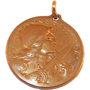 French Bronze Verdun 1916 Medal World War I Designed By S.E. Vernier - Red Tag Sale Item