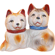 Vintage Ceramic Cat Salt and Pepper Shakers Made In Japan