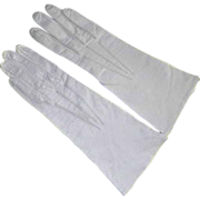 Vintage Never Worn White Leather Gloves