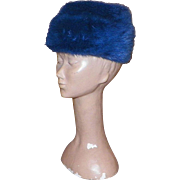 Vintage Miss Alice Blue Dyed Mink Hat