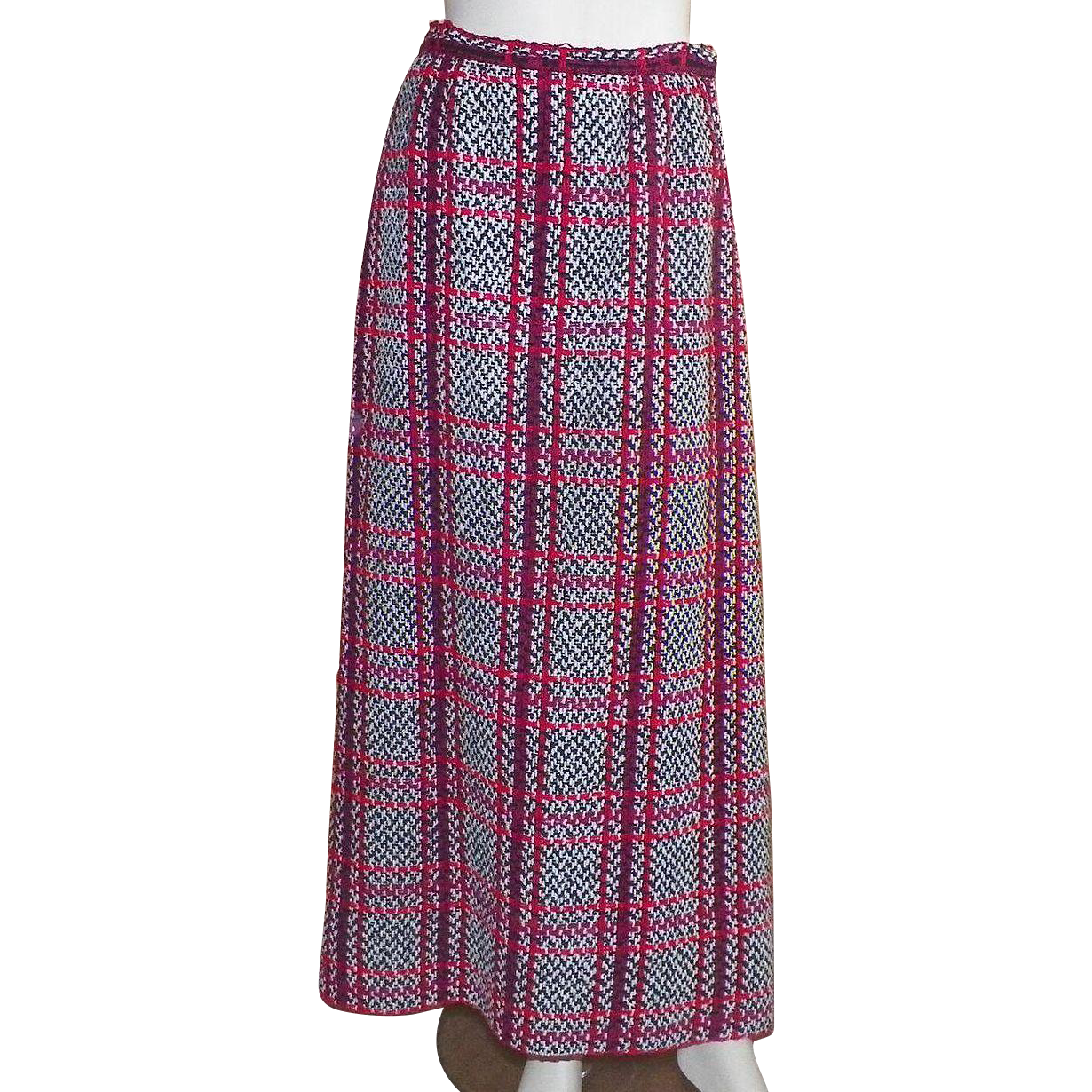 Vintage 1950's Nelly De Grab Wool Maxi Skirt