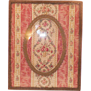 Vintage French Picture Frame With Fabric Matte