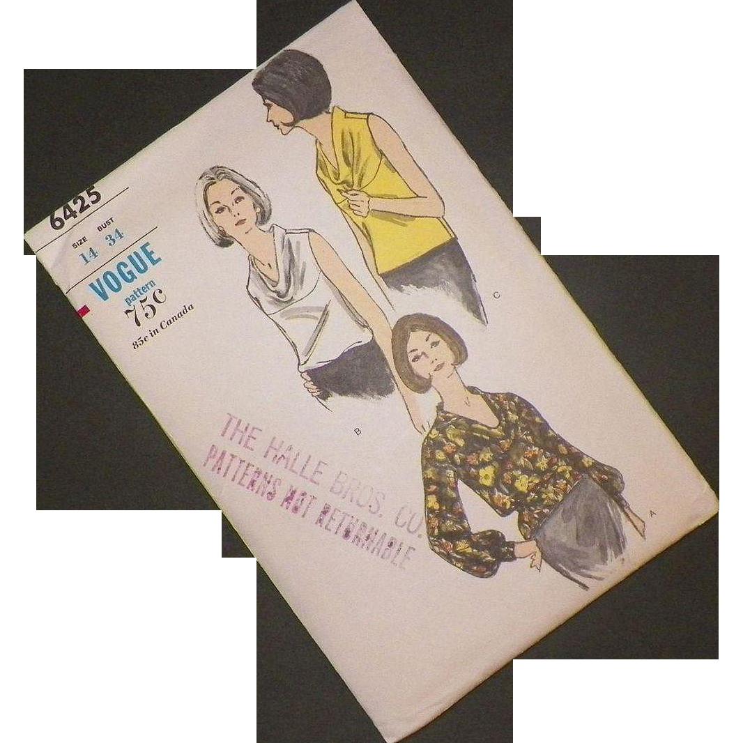 Vogue Blouse Pattern Vintage 59