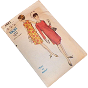 Vintage 1960's Vogue Pattern Tunic Dress Uncut