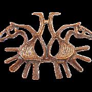 Studio E & P Of Norway Modernist Bronze Pendant Horse Motif