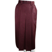 Vintage Rust Wool Skirt Made In Germany By Jerome Creation