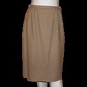 1950's Dalton Ochre Wool Pencil Skirt
