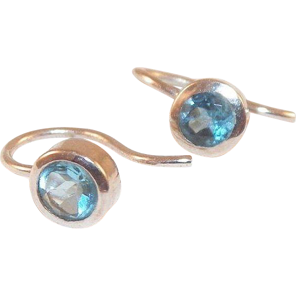 Sterling and Blue Topaz Earrings