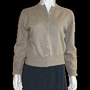 Vintage Ochre Dalton Cashmere Cardigan Sweater