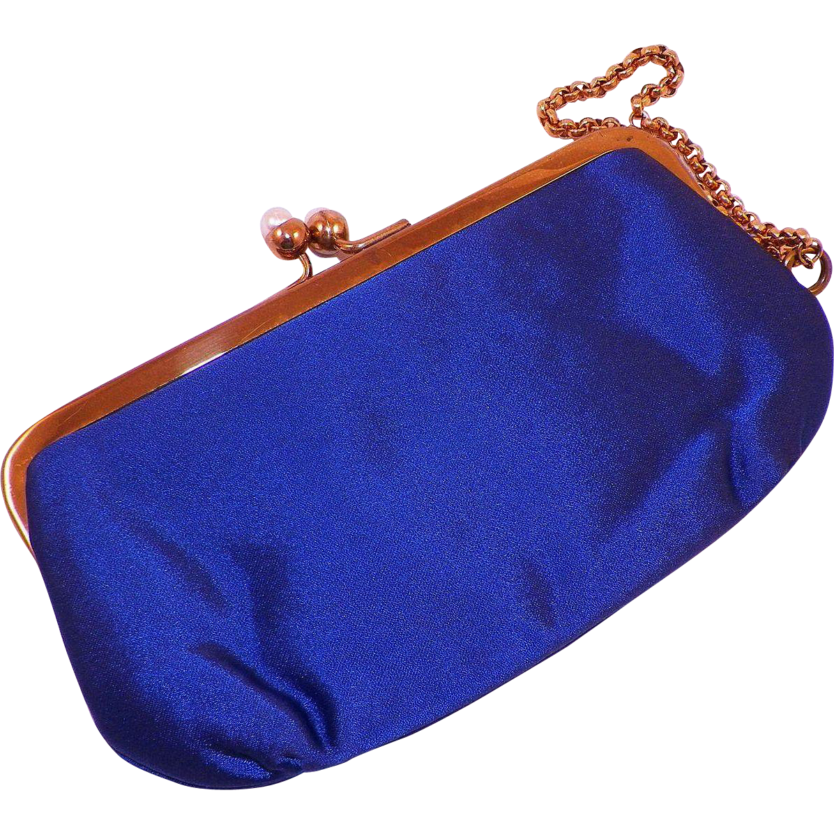 Vintage Morris Moskowitz Evening Satin Bracelet Purse