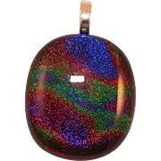 Silver and Dichroic Art Glass Pendant
