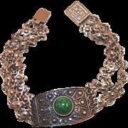 Vintage Sterling Eilat Stone Bracelet Israel