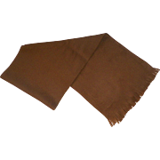 Vitage 100% Cashmere Scarf Made In England Camel Color