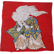 Vintage Japanese Silk Fukusu Textile Kabuki Actor