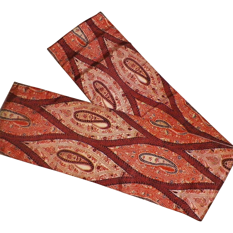 Vintage Traditional Japanese Paisley Silk Obi